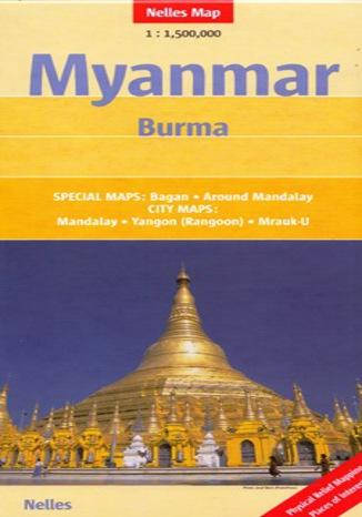 Okładka książki/ebooka Myanmar (Birma). Mapa Nelles /1:1 500 000
