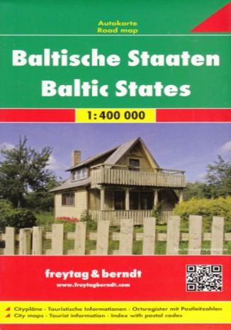 Okładka książki Kraje Bałtyckie. Litwa Łotwa Estonia. Mapa Freytag & Berndt / 1:400 000