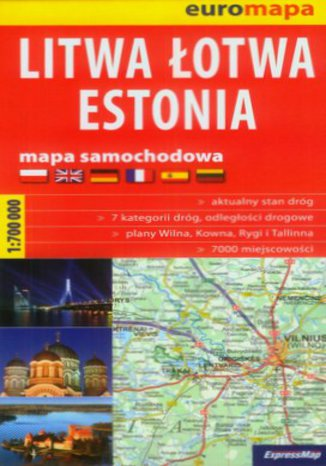Okładka książki Litwa, Łotwa, Estonia. Mapa Expressmap / 1:700 000