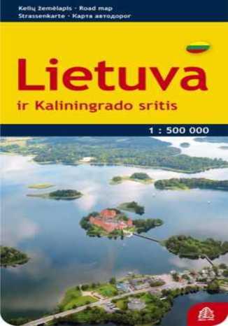 Okładka książki Litwa. Mapa Jana Seta / 1:500 000
