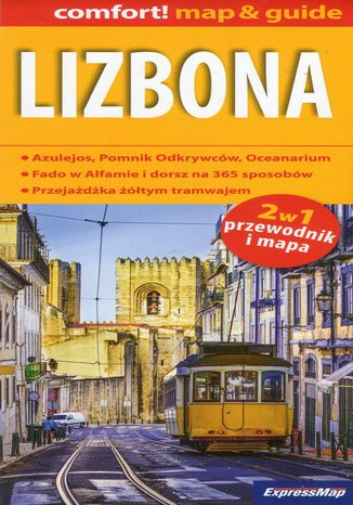 Okładka książki/ebooka Lizbona 2w1. Mapa Express Map / 1:17 500