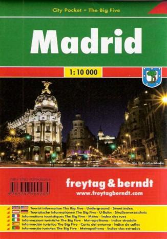 Okładka książki Madryt. Mapa city pocket Freytag & Berndt / 1:10 000