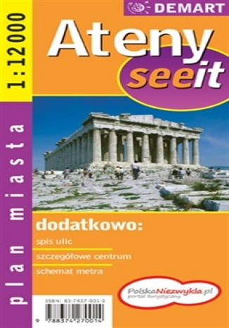 Okładka książki Ateny. Plan miasta (See it)