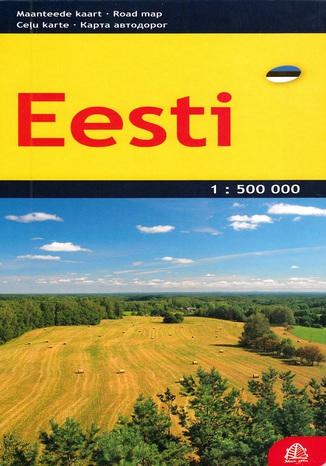 Okładka książki Estonia mapa 1:500 000 Jana Seta