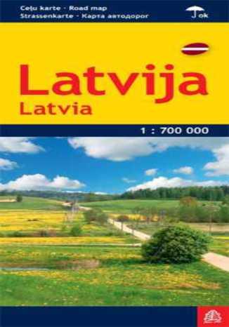 Okładka książki Łotwa mapa 1:700 000 Jana Seta