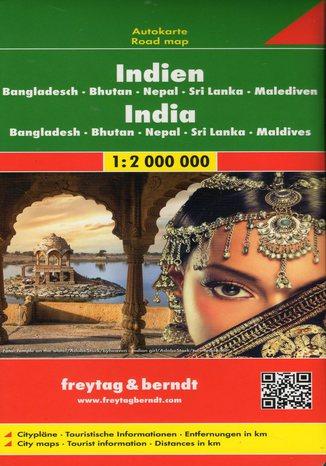 Okładka książki/ebooka Indie, Bangladesz, Bhutan, Nepal, Sri Lanka, Malediwy, 1:2 000 000