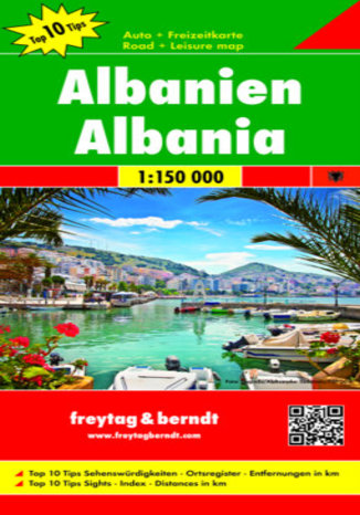 Okładka książki Albanien, 1:150 000