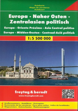 Okładka książki/ebooka Europa - Bliski Wschód - Azja Środkowa mapa 1:5 500 000 Freytag & Berndt