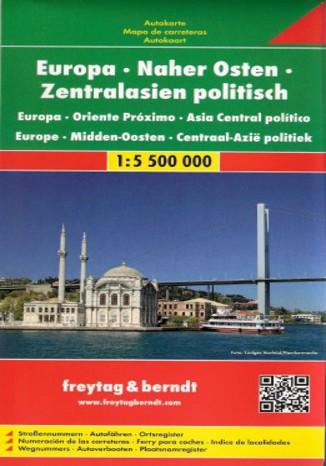 Okładka książki Europa - Bliski Wschód - Azja Środkowa mapa 1:5 500 000 Freytag & Berndt