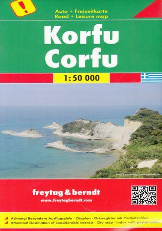 Okładka książki/ebooka Korfu Mapa 1:50 000 Freytag & Berndt
