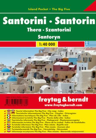 Okładka książki Santorini Mapa 1:40 000 Freytag & Berndt