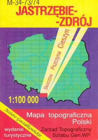 Okładka książki/ebooka Jastrzębie Zdrój  mapa 1:100 000 WZKart