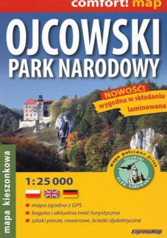 Okładka książki Ojcowski Park Narodowy mapa 1:25 000 EkspressMap