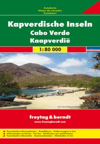 Okładka książki Wyspy Zielonego Przylądka mapa 1:80 000 Freytag & Berndt