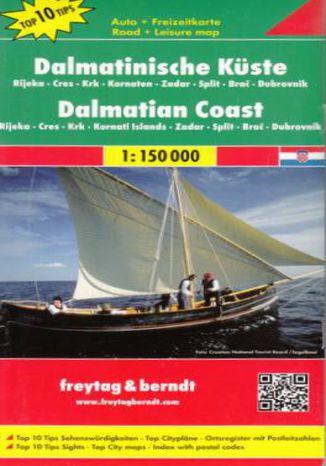 Okładka książki Wybrzeże Dalmatyńskie Rijeka Cres Krk Kornaten Zadar Split Brac Dubrovnik mapa 1:150 000 Freytag & Berndt