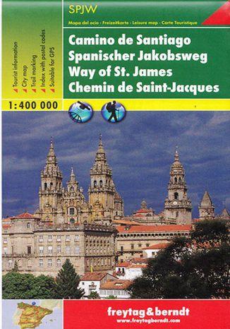Okładka książki Droga Świętego Jakuba mapa turystyczna 1:400 000 Freytag & Berndt Overall Map Way of St. James