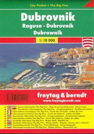 Okładka książki Dubrownik city pocket mapa 1:10 000 Freytag & Berndt