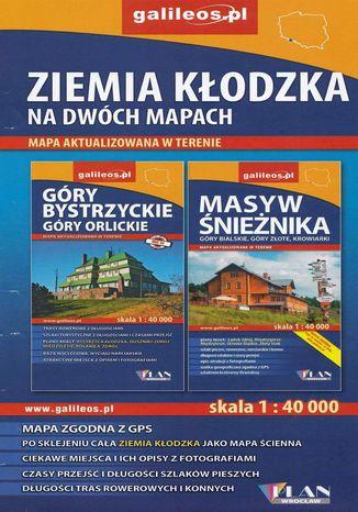 Okładka książki/ebooka Ziemia Kłodzka na dwóch mapach, 1:40 000