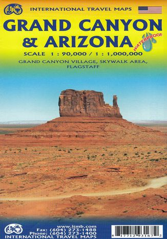 Okładka książki Grand Canyon & Arizona, 1:90 000 / 1:1 000 000