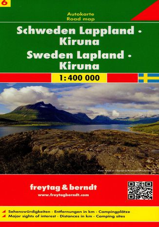 Okładka książki Szwecja cz.6 Lapland-Kiruna mapa, 1:400 000