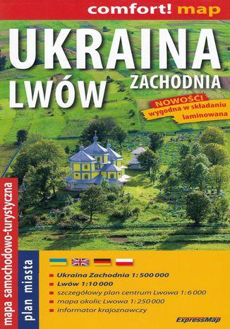 Okładka książki Ukraina Zachodnia, Lwów, 1:500 000 / 1:10 000