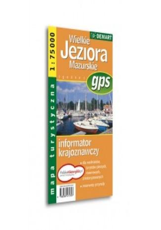Okładka książki Wielkie Jeziora Mazurskie. Mapa turystyczna