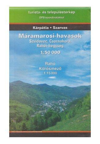 Karpaty Wschodnie (Świdowiec, Czarnohora, Góry Rachowskie). Mapa turystyczna Szarvas