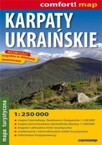 Karpaty Ukraińskie. Mapa turystyczna (Comfort! Map)