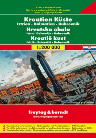 Okładka książki/ebooka Wybrzeże Chorwacji. Mapa samochodowa