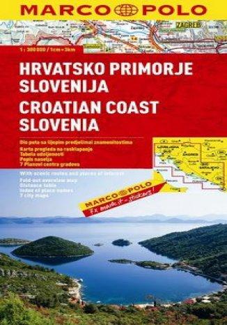 Okładka książki Wybrzeże Chorwacji, Słowenia. Mapa