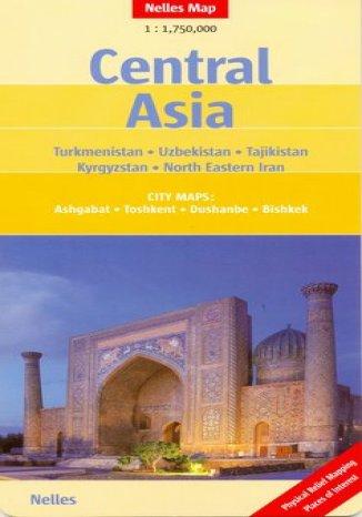 Okładka książki/ebooka Azja Centralna. Mapa