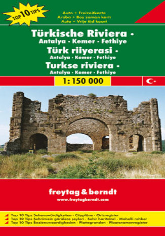 Okładka książki/ebooka Turcja - Riwiera. Antalya-Kemer-Fethiye. Mapa samochodowa