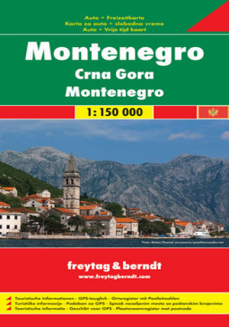 Okładka książki Czarnogóra. Mapa samochodowa