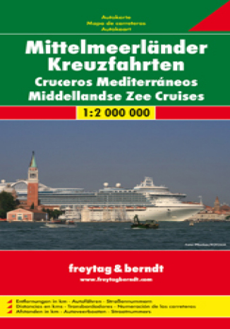 Okładka książki Morze Śródziemne. Mapa samochodowa