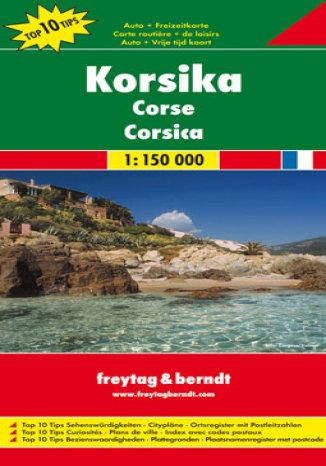 Okładka książki Korsyka. Mapa samochodowa