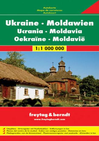 Okładka książki/ebooka Ukraina, Mołdawia. Mapa samochodowa