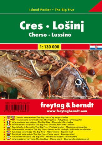 Okładka książki Cres Lošinj. Mapa samochodowa