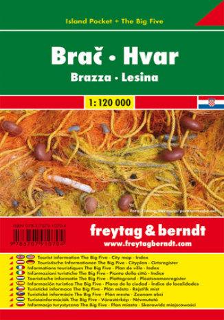 Okładka książki Brač Hvar. Mapa samochodowa