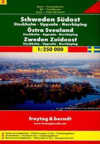Okładka książki/ebooka Szwecja Południowo-Wschodnia. Mapa samochodowa