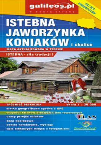 Okładka książki/ebooka Istebna, Jaworzynka, Koniaków i okolice. Mapa [Galileos]