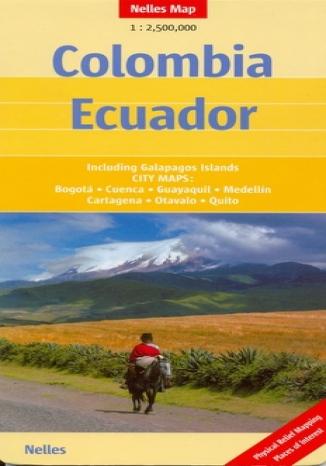 Okładka książki Kolumbia, Ekwador. Mapa