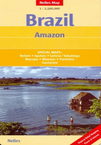 Okładka książki Brazylia. Amazonka. Mapa