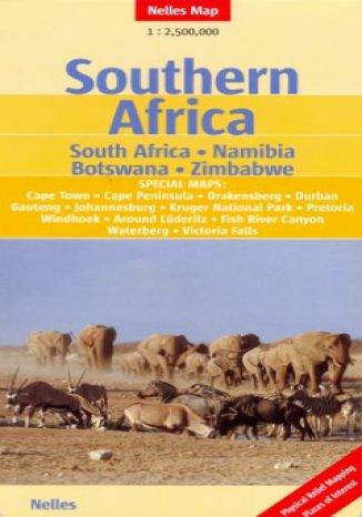Okładka książki/ebooka Afryka Południowa. RPA, Namibia, Botswana, Zimbabwe. Mapa