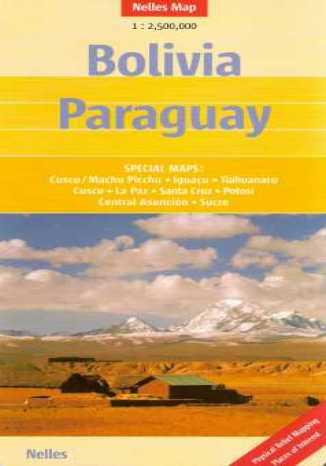 Okładka książki Boliwia, Paragwaj. Mapa