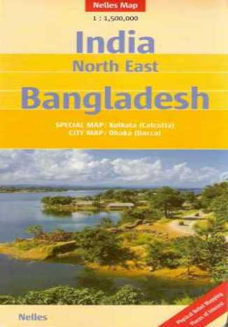Okładka książki/ebooka Indie Północno-Wschodnie. Bangladesz. Mapa