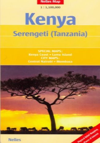 Okładka książki/ebooka Kenia. Setengeti (Tanzania). Mapa