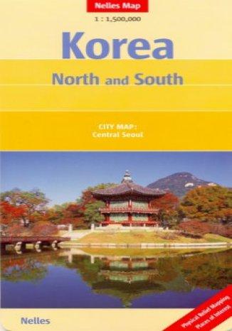 Okładka książki/ebooka Korea Północna i Południowa. Mapa