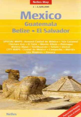 Okładka książki Meksyk. Gwatemala, Belize, El Salvador. Mapa