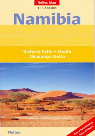 Okładka książki/ebooka Namibia. Mapa