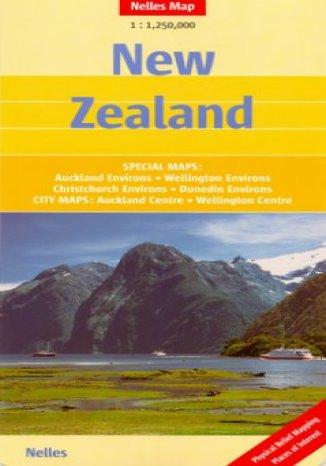 Okładka książki/ebooka Nowa Zelandia. Mapa